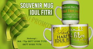 Souvenir Mug Idul fitri, Ide Souvenir idul fitri, Souvenir Lebaran, Souvenir Tas custom Idul Fitri, Souvenir Mug Idul fitri, botol minum Idul Fitri