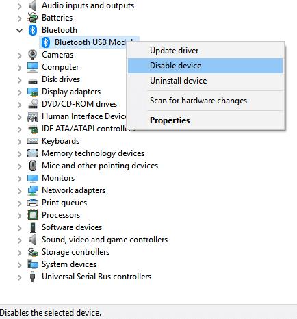 Bluetooth no funciona correctamente