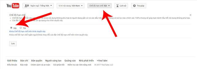 làm thế nào để chặn video xấu trên youtube