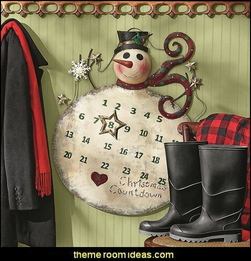 Metal Christmas Countdown Snowman Advent Calendar  Rustic Christmas  decorating ideas - rustic Christmas decorations  - Vintage  -  Rustic  - Country style Christmas decorating -  rustic Christmas decor - Christmas stockings - vintage rustic christmas decorations  Rustic Glam Vintage Christmas decor -  Rustic Country Vintage christmas tree ideas - Christmas stockings