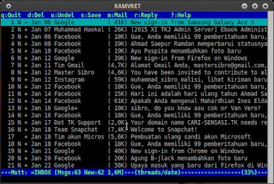 Cara Membuka Email Gmail di Terminal Linux (mutt)