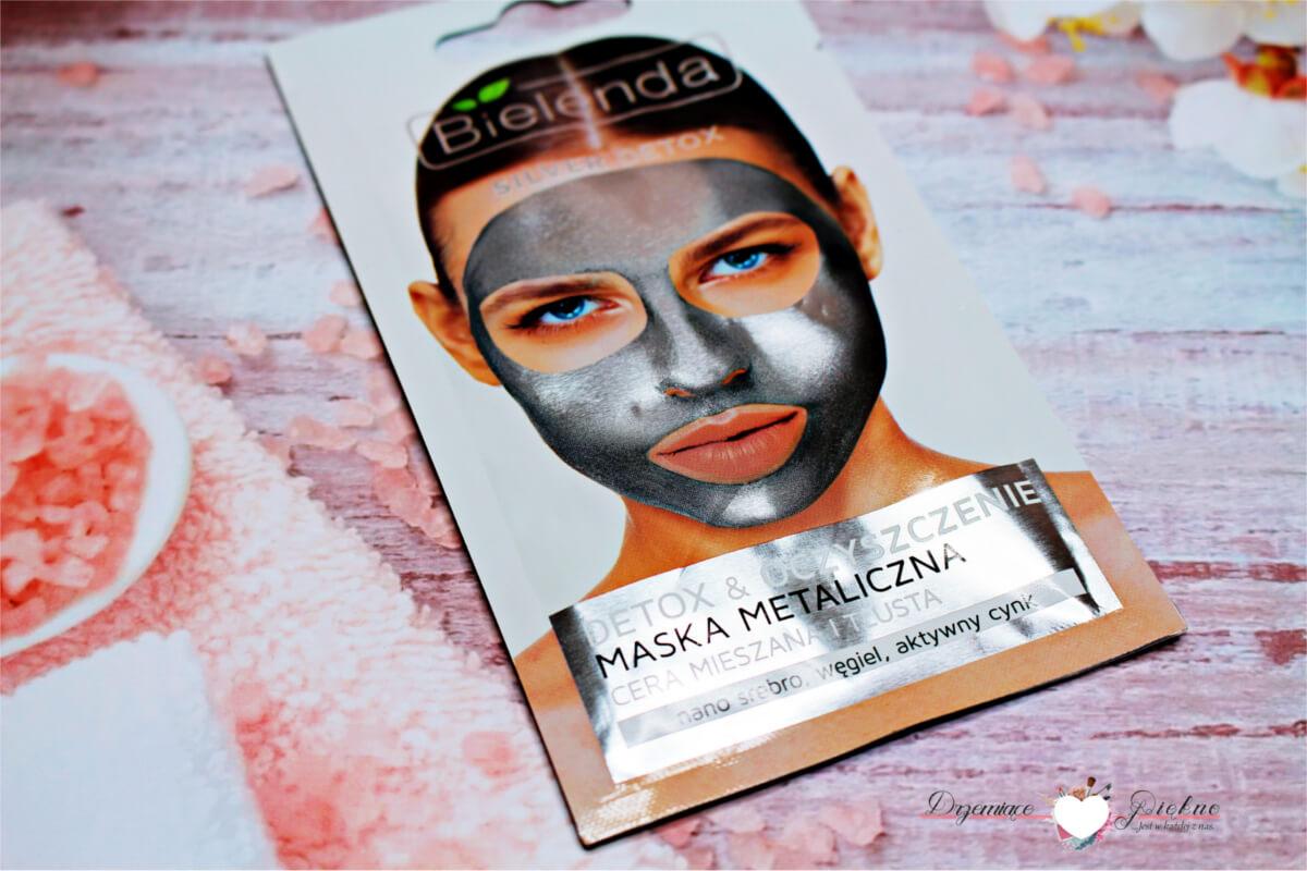 Bielenda Silver Detox, Detox & Oczyszczenie - Detoksykująca maska metaliczna do cery mieszanej i tłustej