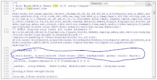 Contoh Susunan CSS didalam template
