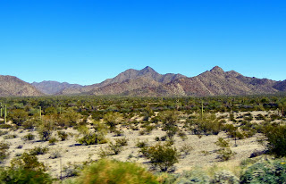 Driving through the Sonoran Desert  National Monument on I-8
