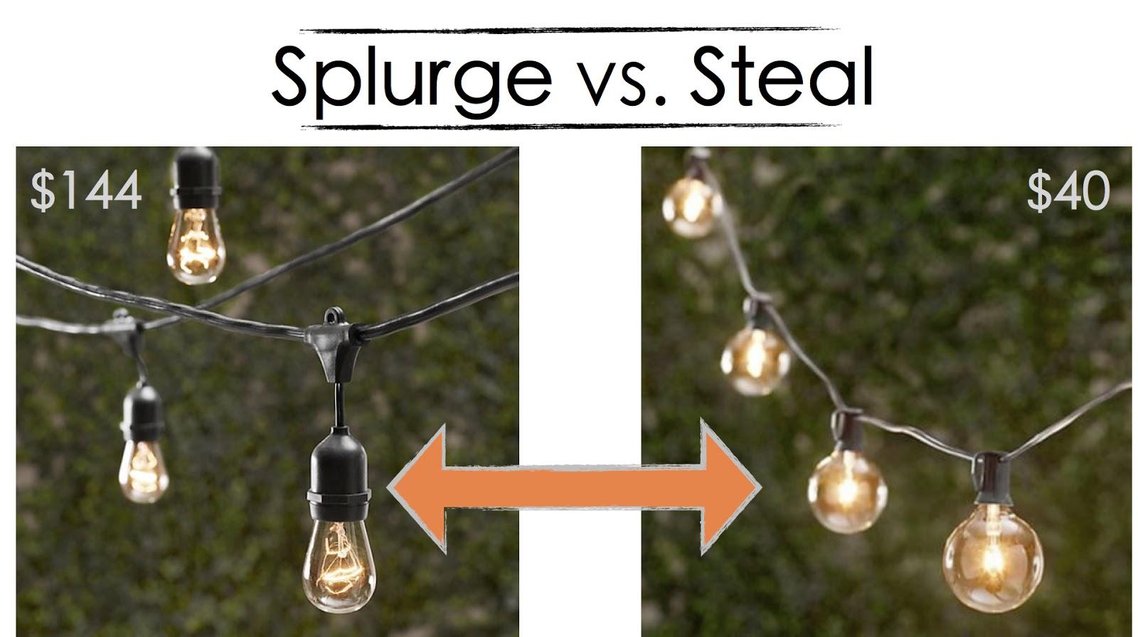 Inspired Whims Splurge Vs Steal Patio String Lights