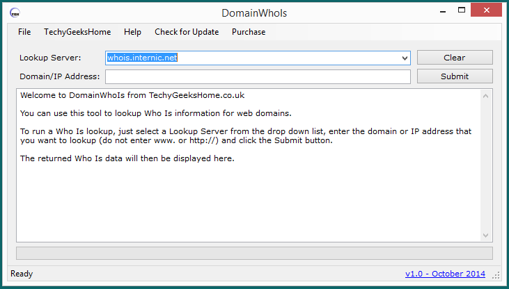 DomainWhoIs version 1.0 Released - Domain Who Is Lookup Tool 2