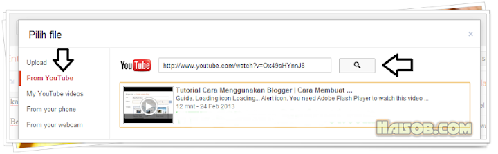 Cara 1: memasukan video Youtube ke dalam postingan di Blogger
