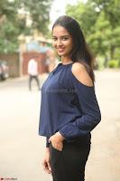 Poojita Super Cute Smile in Blue Top black Trousers at Darsakudu press meet ~ Celebrities Galleries 068.JPG