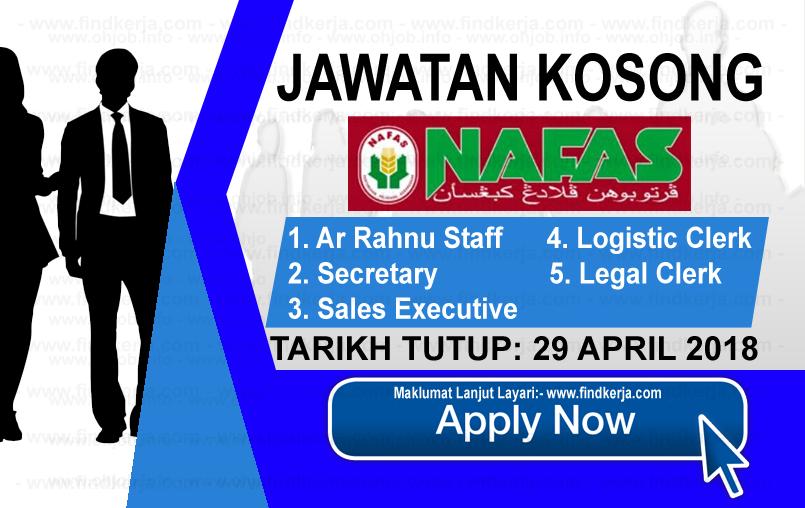 Jawatan Kerja Kosong NAFAS - Pertubuhan Peladang Kebangsaan logo www.findkerja.com april 2018
