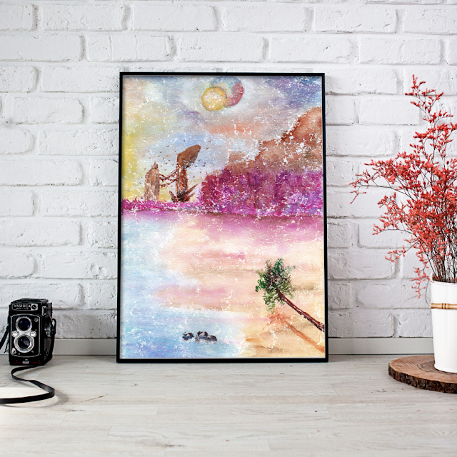 Watercolor Painting for Wall Decor