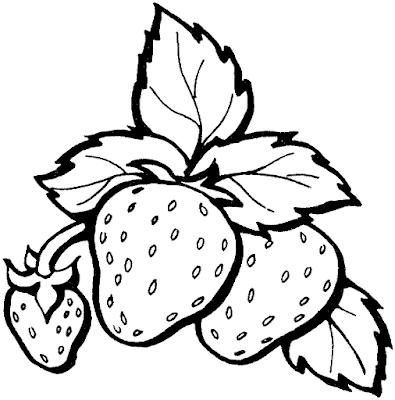 Gambar Mewarnai Buah Strawberry - 4