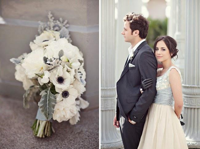 vintage_modern_wedding_041 Partecipazione mod. AnemoneColore Bianco Colore Nero Nozze d'Inverno