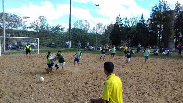 Campeonato futebol de areia Três Barras