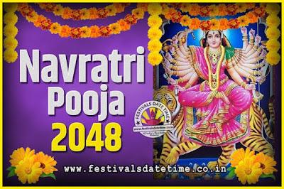 2048 Navratri Pooja Date and Time, 2048 Navratri Calendar