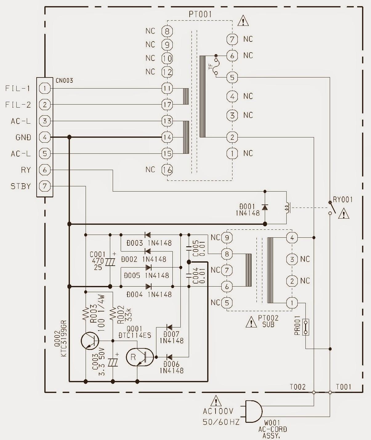 Aiwa Xr H360md Schematic Circuit Diagram