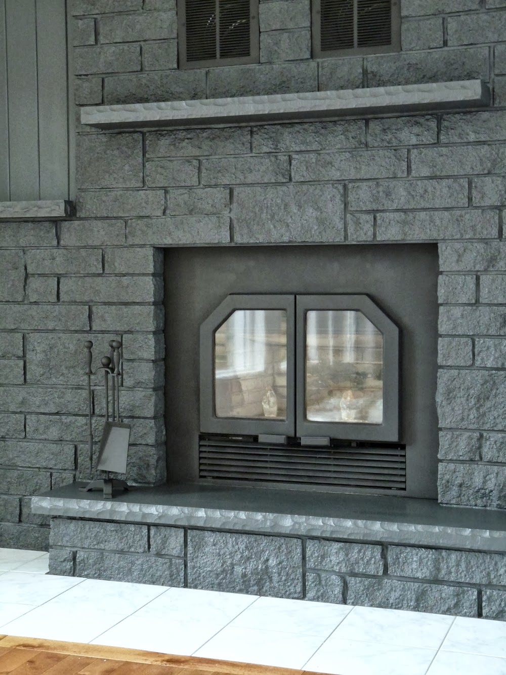 grey brick fireplace fireplace ideas