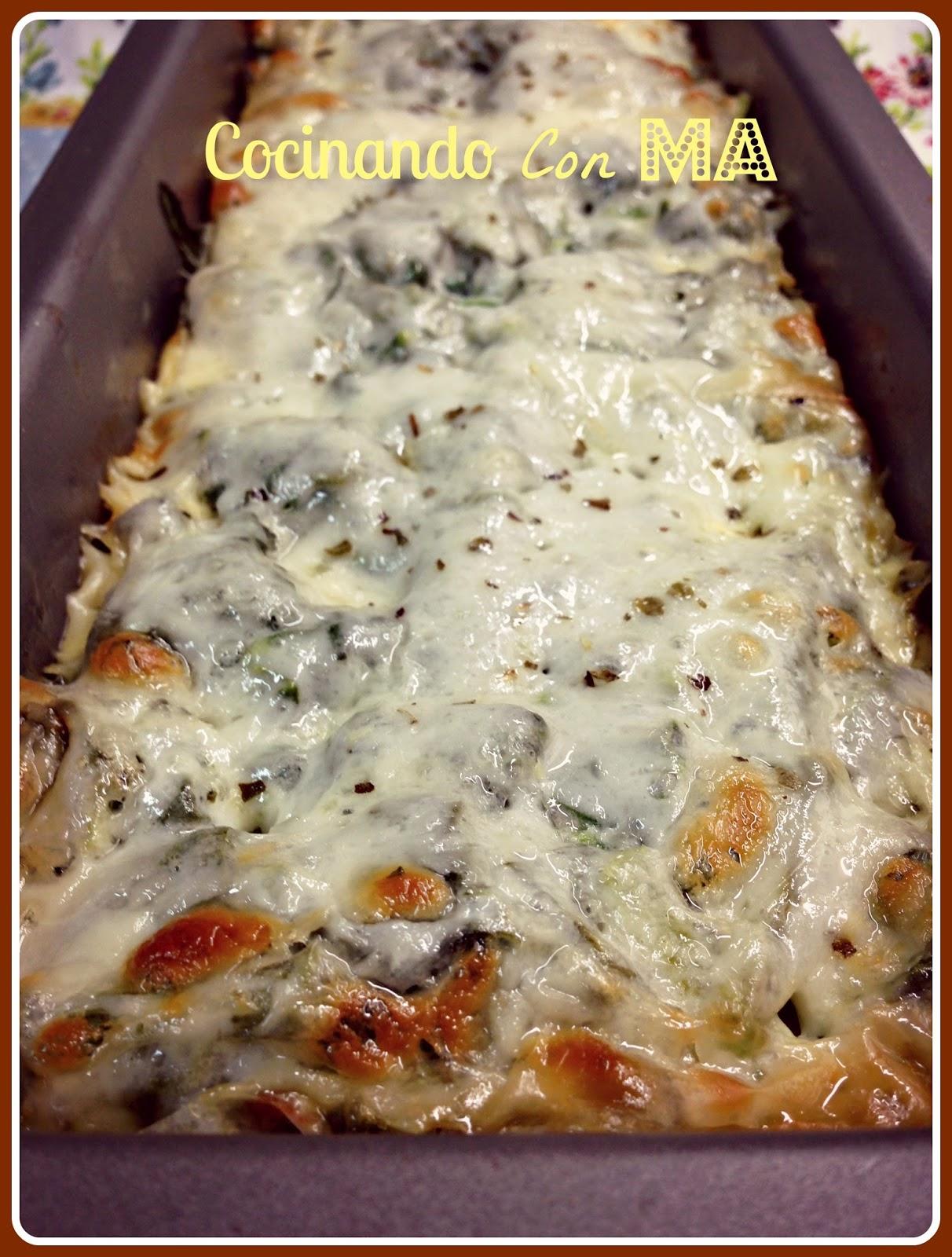 Pastel de espinacas y patatas gratinado cocinando con ma for Cocinando 15 minutos con jamie