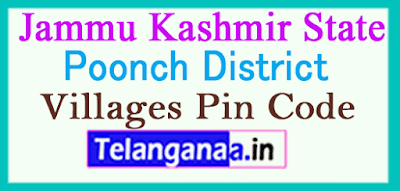 Poonch District Pin Codes in Jammu Kashmir State
