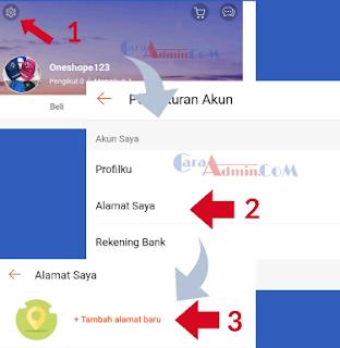 Cara Aktivasi memasukan Alamat Toko Akun shopee.id