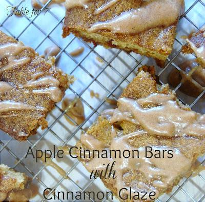 Apple Cinnamon Bars with Cinnamon Glaze