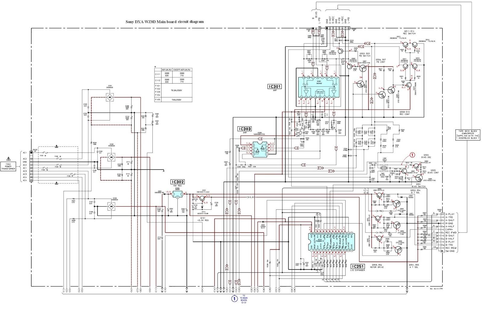 Sony Amplifier Circuit Diagram Electrical Wiring Diagrams Current Amplifiercircuit Seekiccom Dxa Wz8d Deck And Schematic