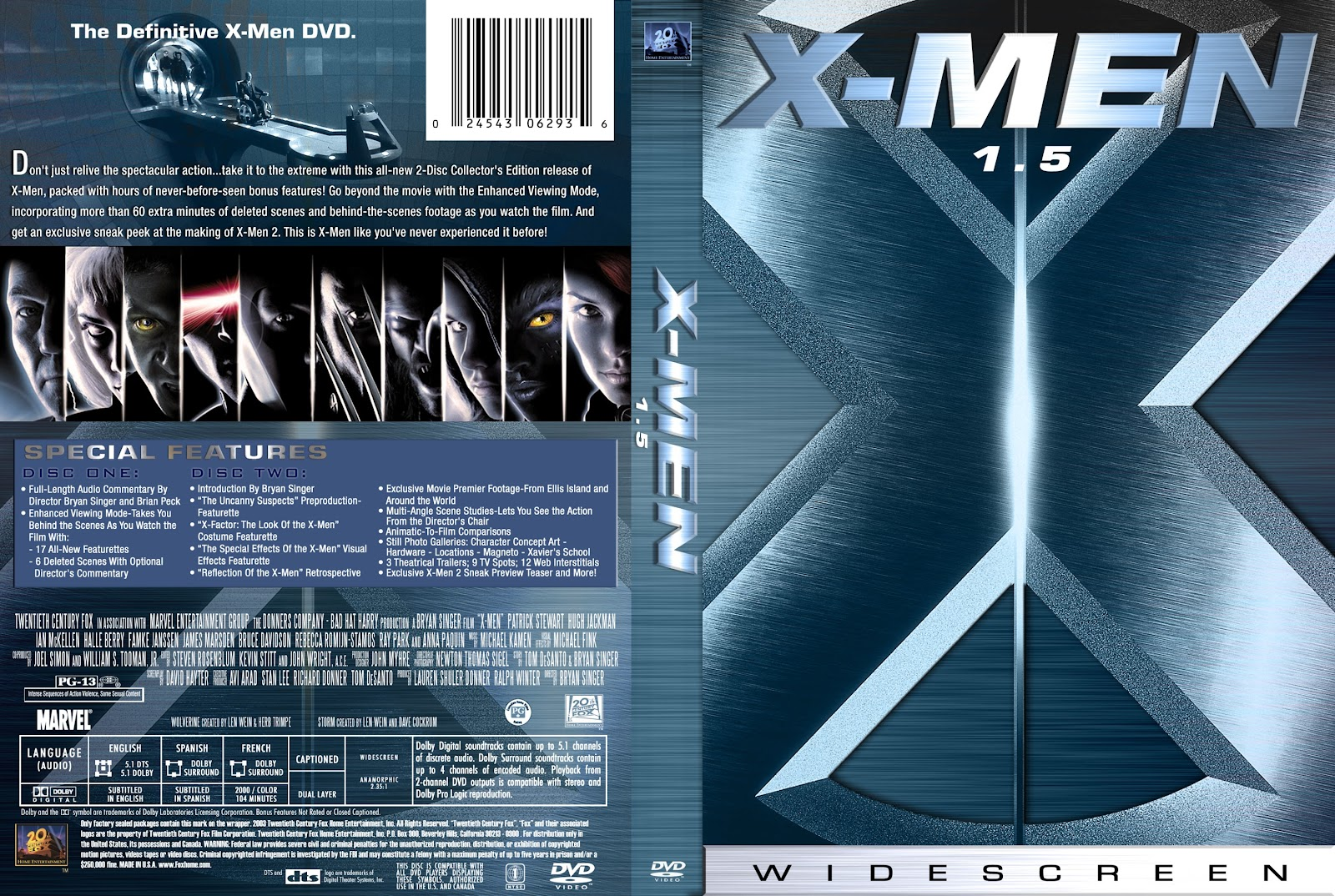 X Men Dvd Cover: Getalluwants: X-Men (2000) BRRip 720p