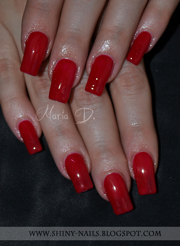 Shiny Nails By Maria D Red