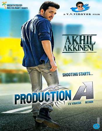 Poster Of Akhil 2015 Hindi Dual Audio 550MB UNCUT HDRip 720p HEVC Free Download Watch Online downloadhub.in