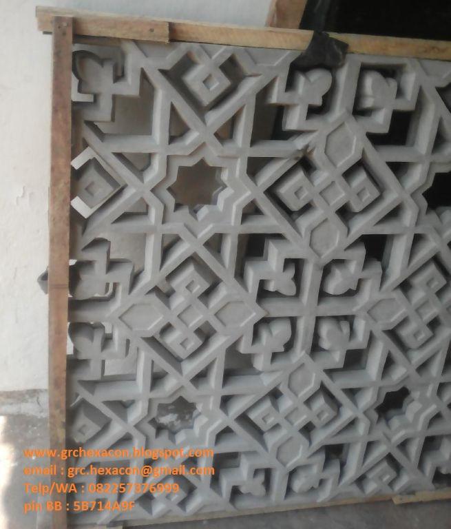 GRC HEXACON INDONESIA ornamen GRC dan roster beton
