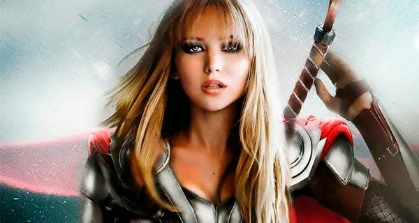 Fan-Art: Jennifer Lawrence ataviada de Thor de los Vengadores