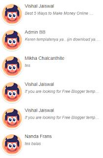 Memasang Widget Komentar Terbaru dengan Avatar di Blog