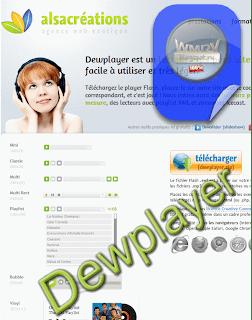 Скрин веб-страницы разработчика Dewplayer