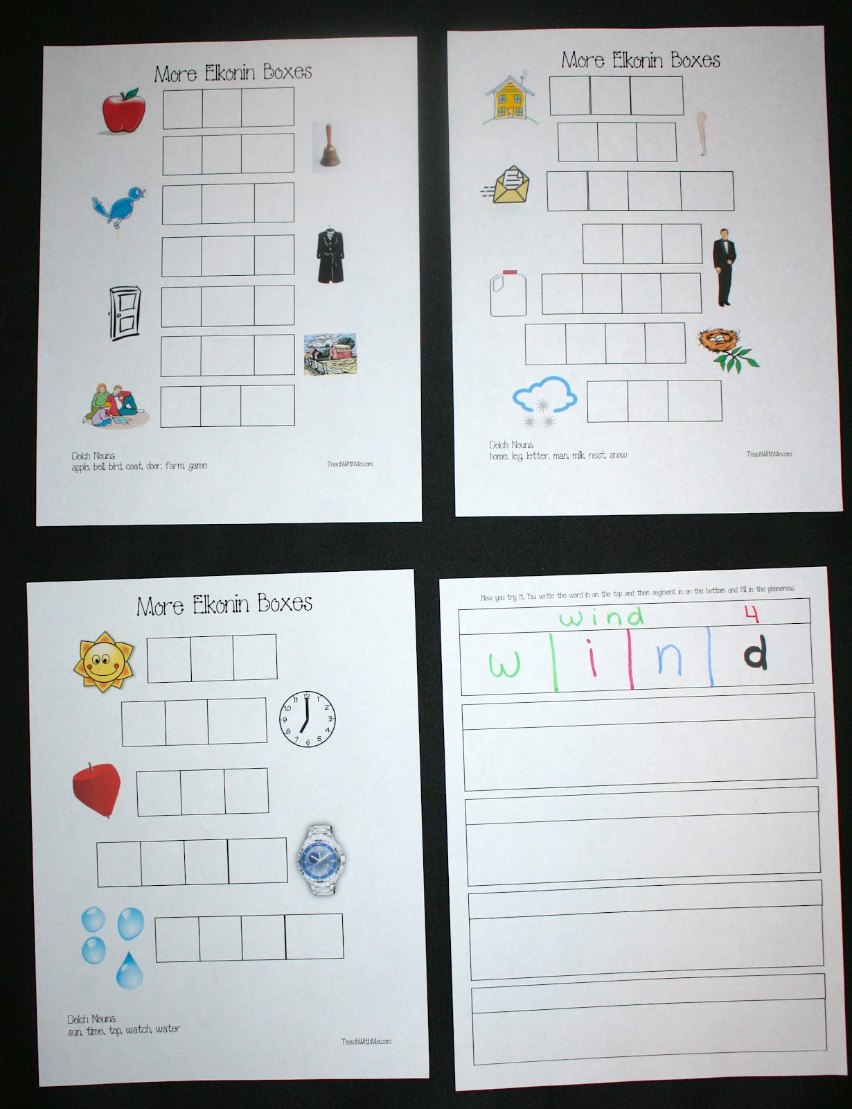 More elkonin boxes classroom freebies for Elkonin boxes template