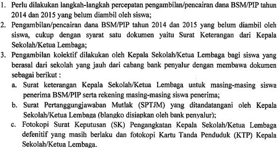 Persyaratan Dokumen Yang Harus Dilengkapi Untuk Pencairan Program Indonesia Pintar (PIP) Siswa SMK