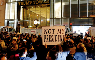 Anti-Trump Protesters Take To The Streets Across America