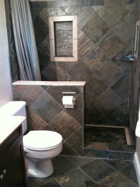 kamar mandi kecil minimalis batu alam