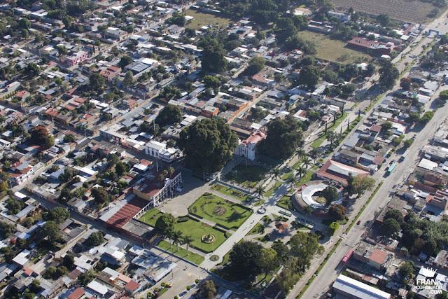 vista aerea de Santa maria del tule