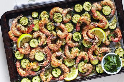 Roasted Garlic Shrimp With Zucchini