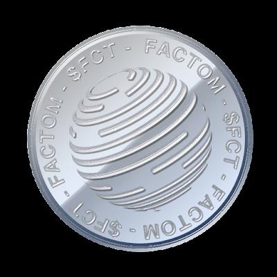 仮想通貨ファクトム(Factom)のフリー素材(アルミver)