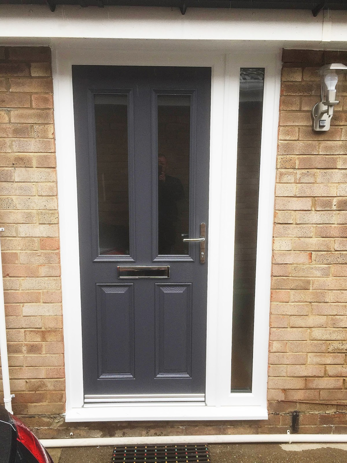 Grey is the new black altmore composite door with full for Side entry door