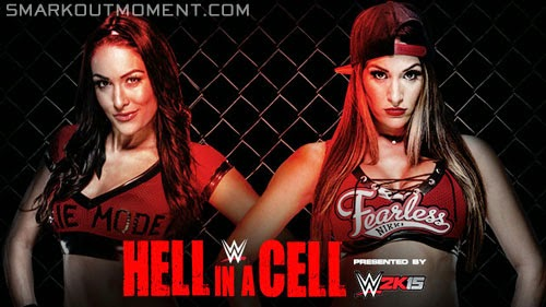 WWE Hell in a Cell 2014 ppv Brie Bella vs Nikki Bella Twins match
