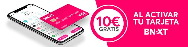 activa tu tarjeta bnext y llévate 10€ gratis