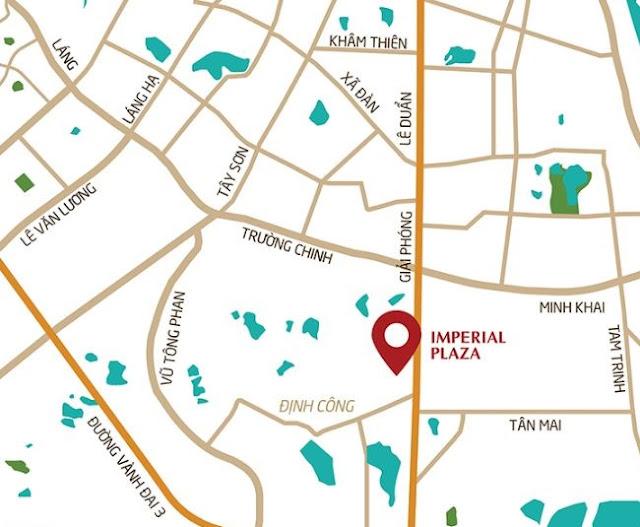 Vị trí Chung cư Imperial Plaza 360 Giải Phóng