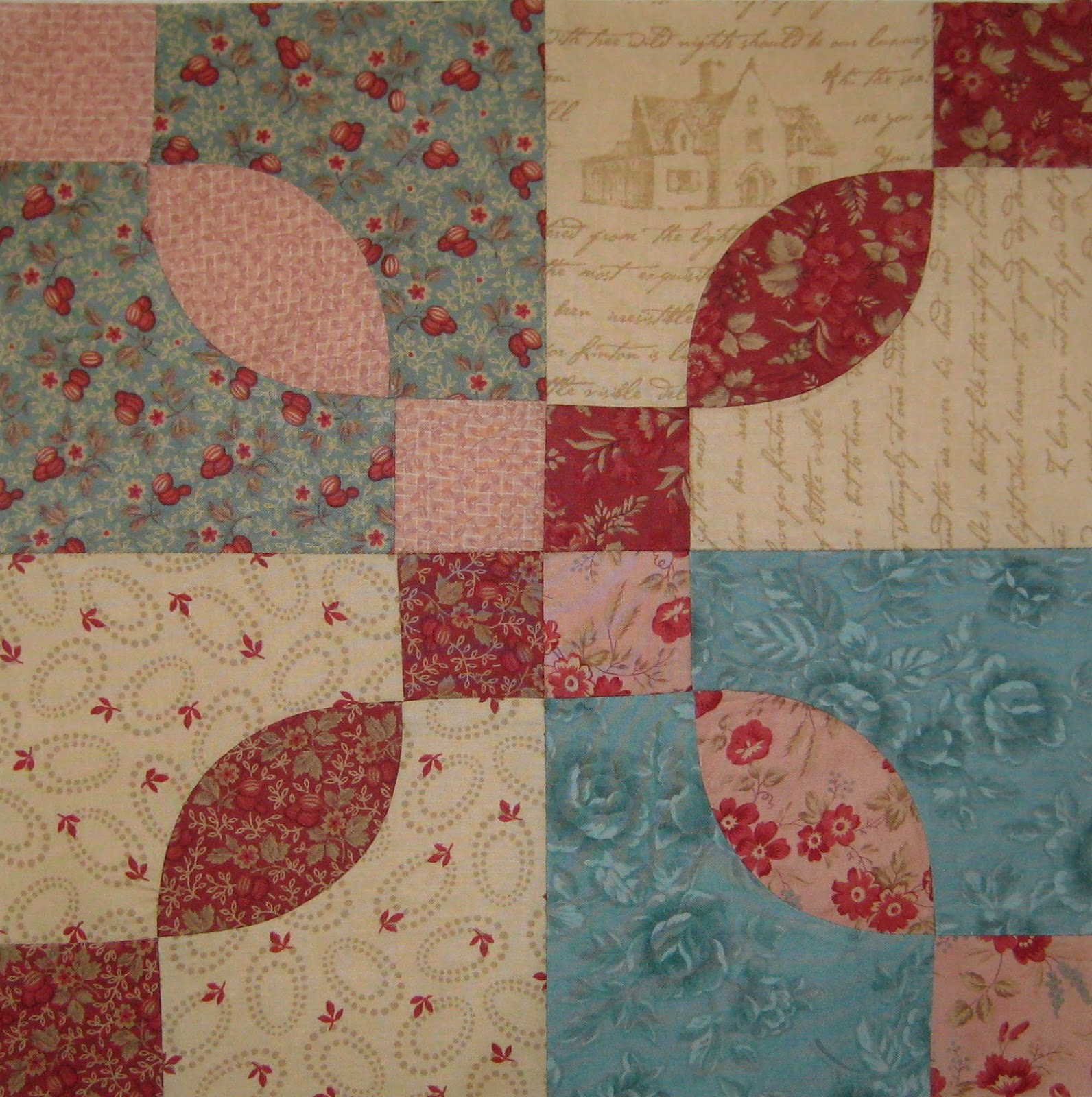 Rose Dream Quilt Block.Sister Of The Divide Rose Dream Vintage Block Quilt Along 1