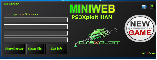 PS3Xploit  (MINIWEB/BROWSER) PS3Xploit  HAN POWERED BY miniweb PS3 HAN TOOLS.