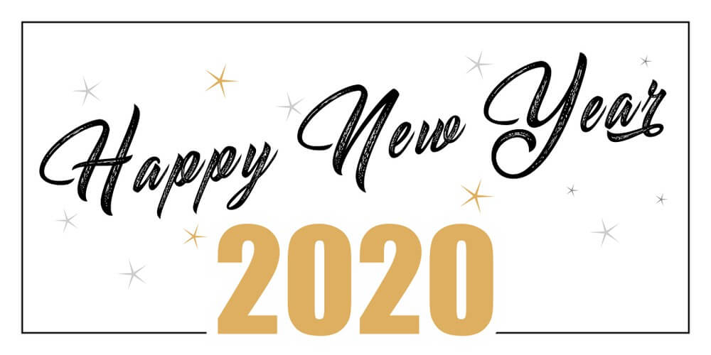 Happy New Year 2020, Calligraphy