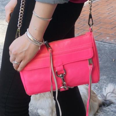 Nobody Denim Siren Skinny jeans Rebecca Minkoff neon pink mini MAC | AwayFromTheBlue