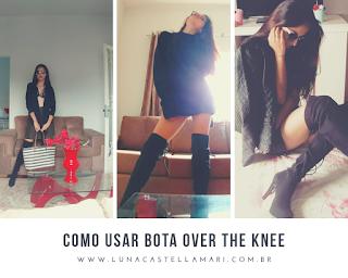 Como usar bota acima do joelho