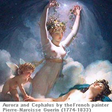 Aurora and Cephalus by Pierre Narcisse Guerin