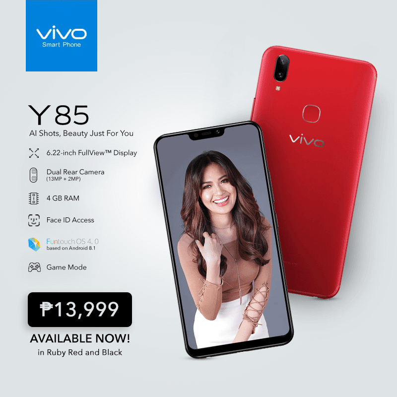 Vivo Y85 with 6.22-inch 19:9 screen and Helio P22 SoC is priced at PHP 13,999!